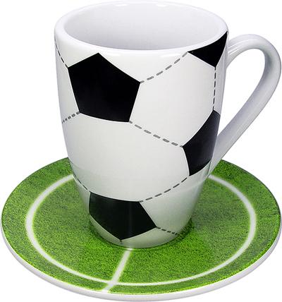 Fotbal hrnek s talířkem